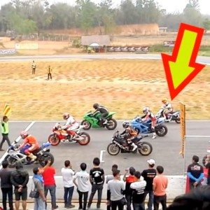 VIDEO: Check out a 125cc scooter give litre-class motorcycles some tough time on a track