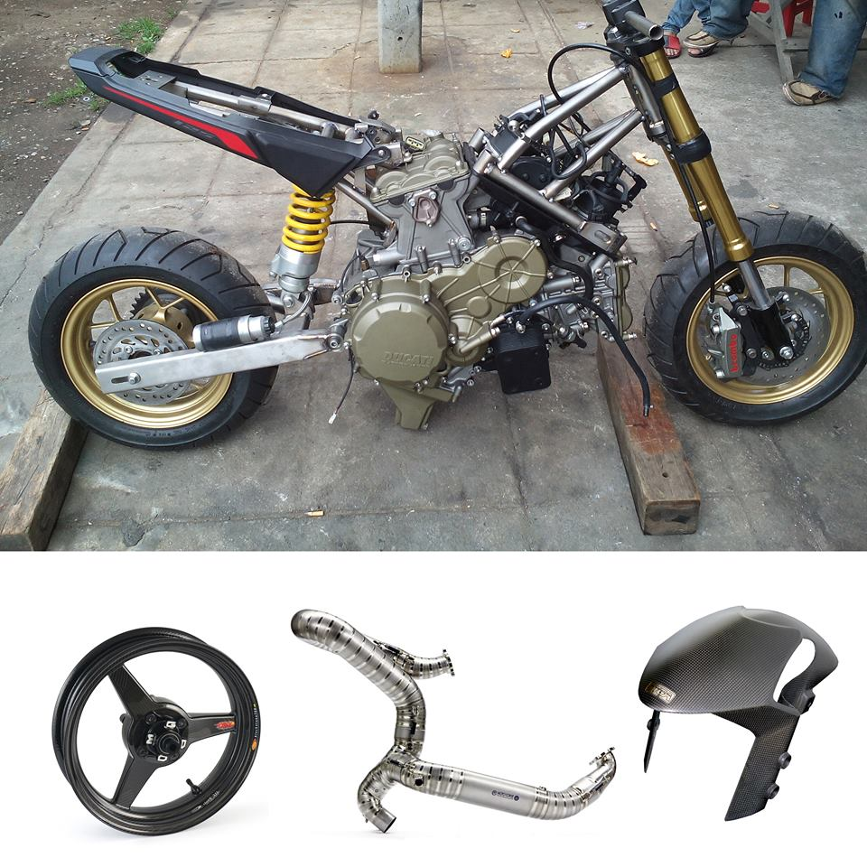 Honda Grom with a Ducati Panigale R engine (3)