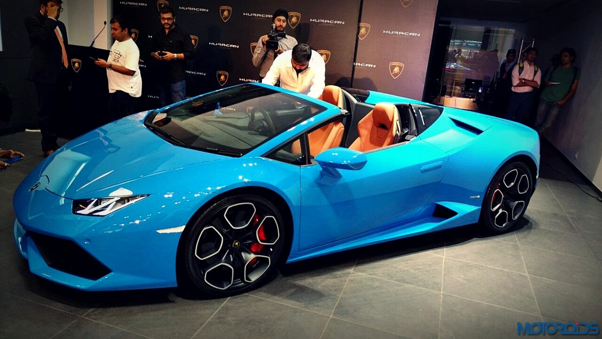 lamborghini huracan spyder launched in india starts at inr crores motoroids. Black Bedroom Furniture Sets. Home Design Ideas