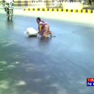 Heat waves continue to lash the country, roads begin to melt in Gujarat
