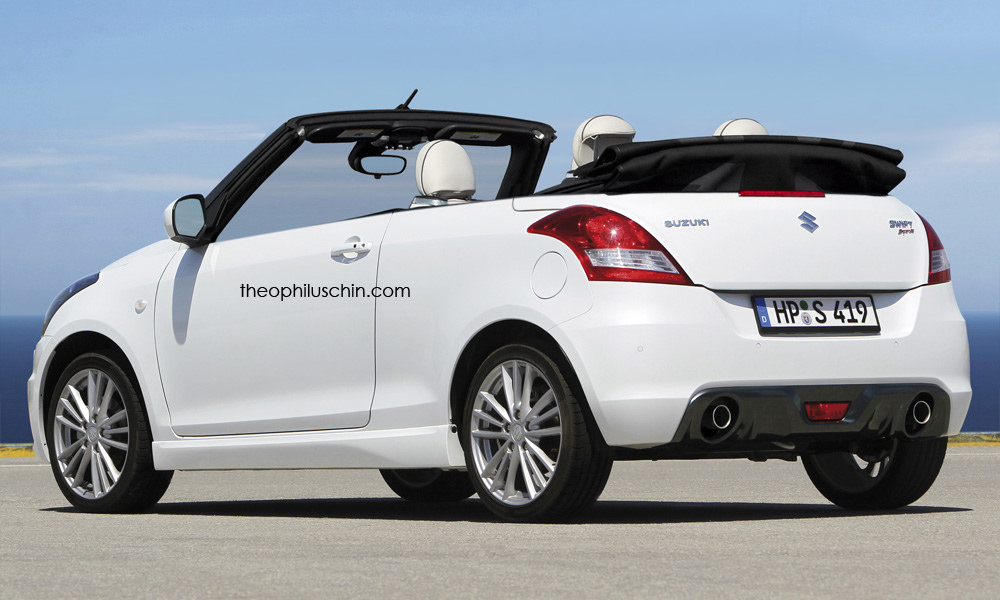 Suzuki Swift convertible rendering (1)