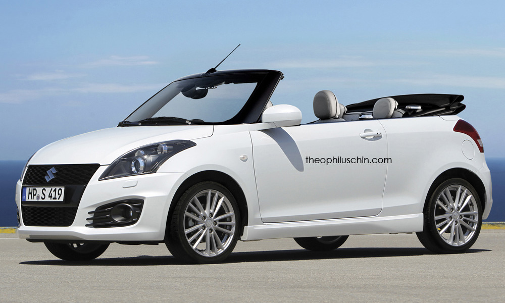 Suzuki Swift convertible rendering (2)