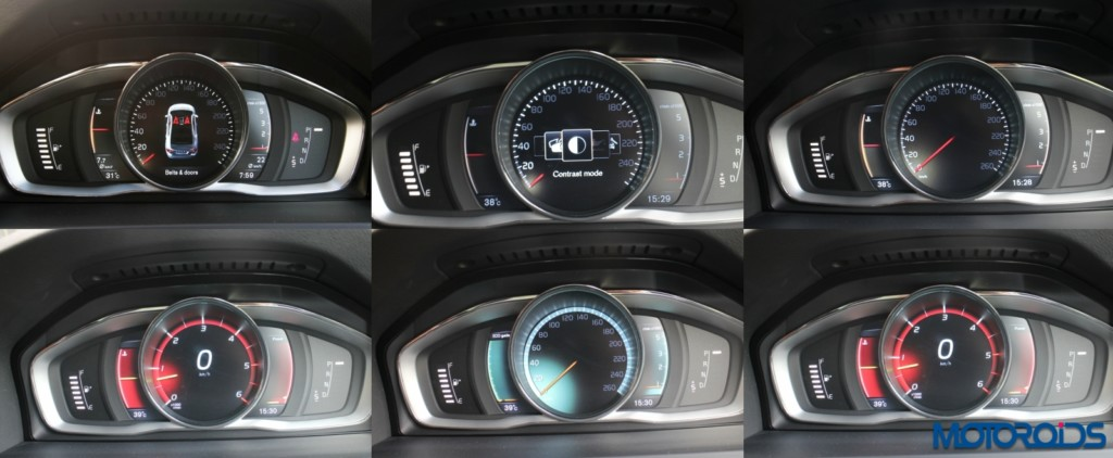 Volvo S 60 cross country instrument cluster collage
