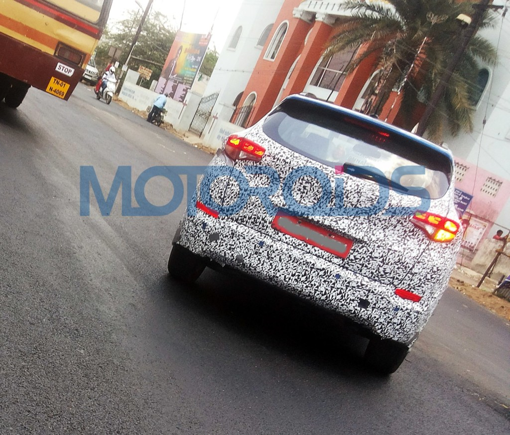 new 2016 Hyundai Tucson India spy image