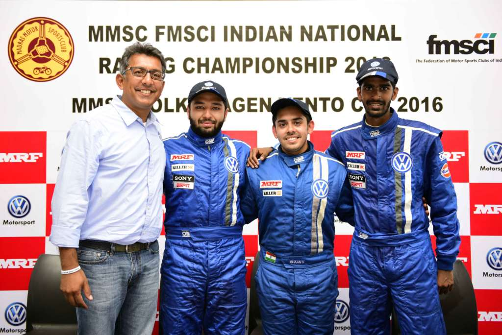 2. (L-R)Sirish Vissa, Head of Volkswagen Motorsport India, Karminder Pal...