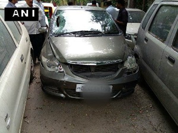 Delhi hit and run Honda City