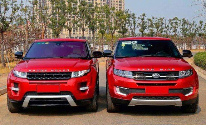 Range Rover Evoque Bumps Into Its Chinese Ripoff The
