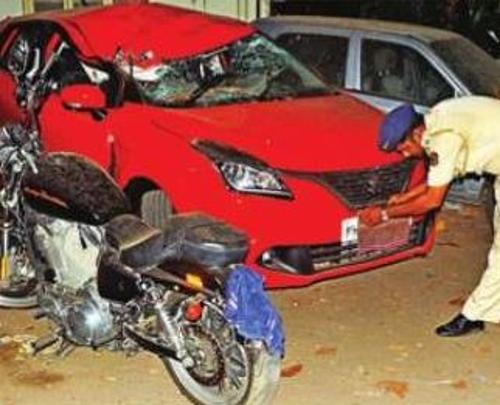 Harley Davidson accident