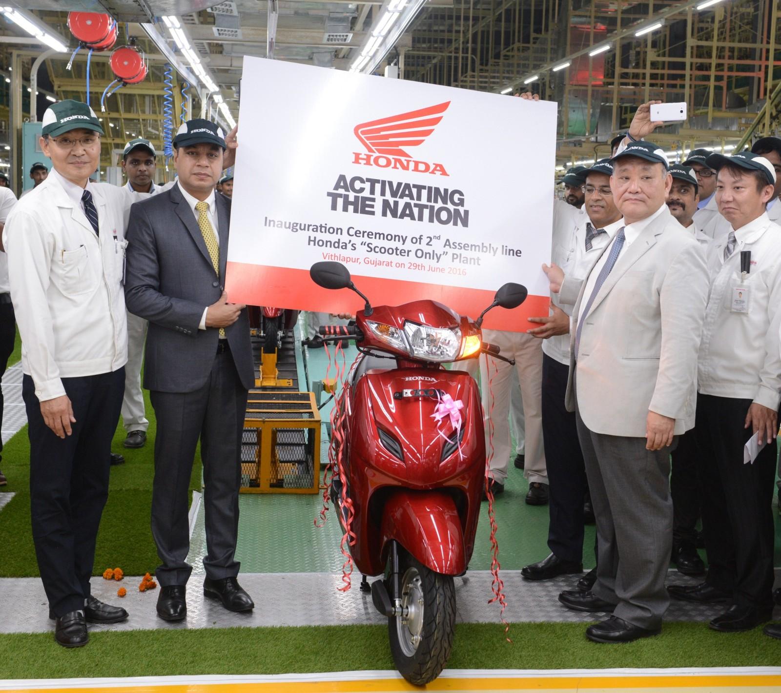 Honda 2Wheelers India inaugurates the 2nd assembly line (2)