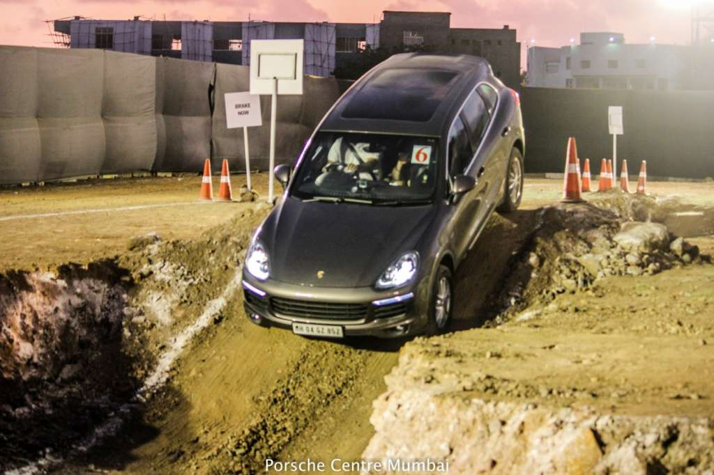 Porsche off-road event India Cayenne Macan BKC MMRDA