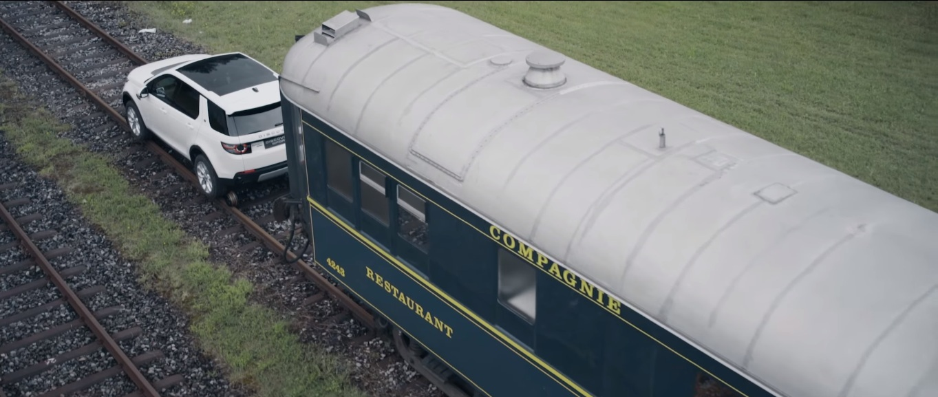 Land Rover Pulls Railway Carriages - 1