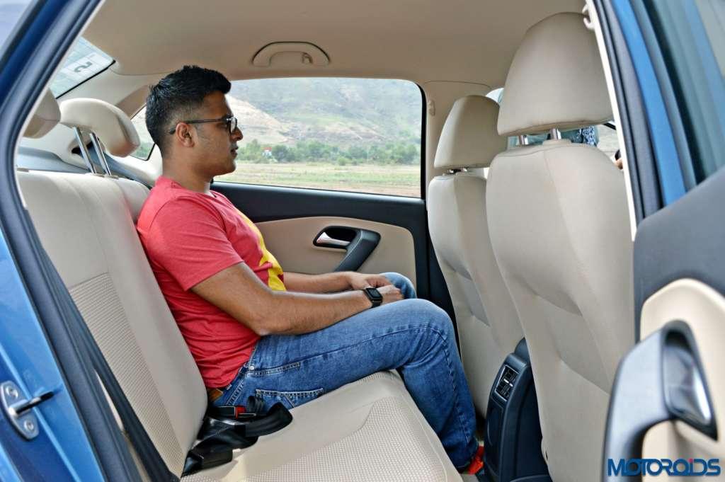 New Volkswagen Ameo back seat passenger space(104)