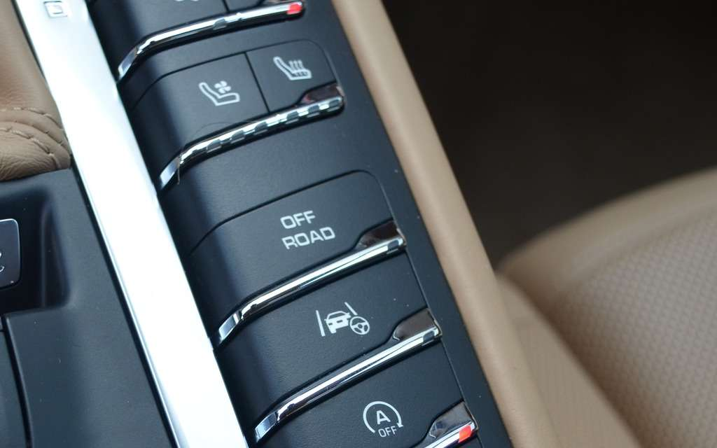 Porsche Macan off road button