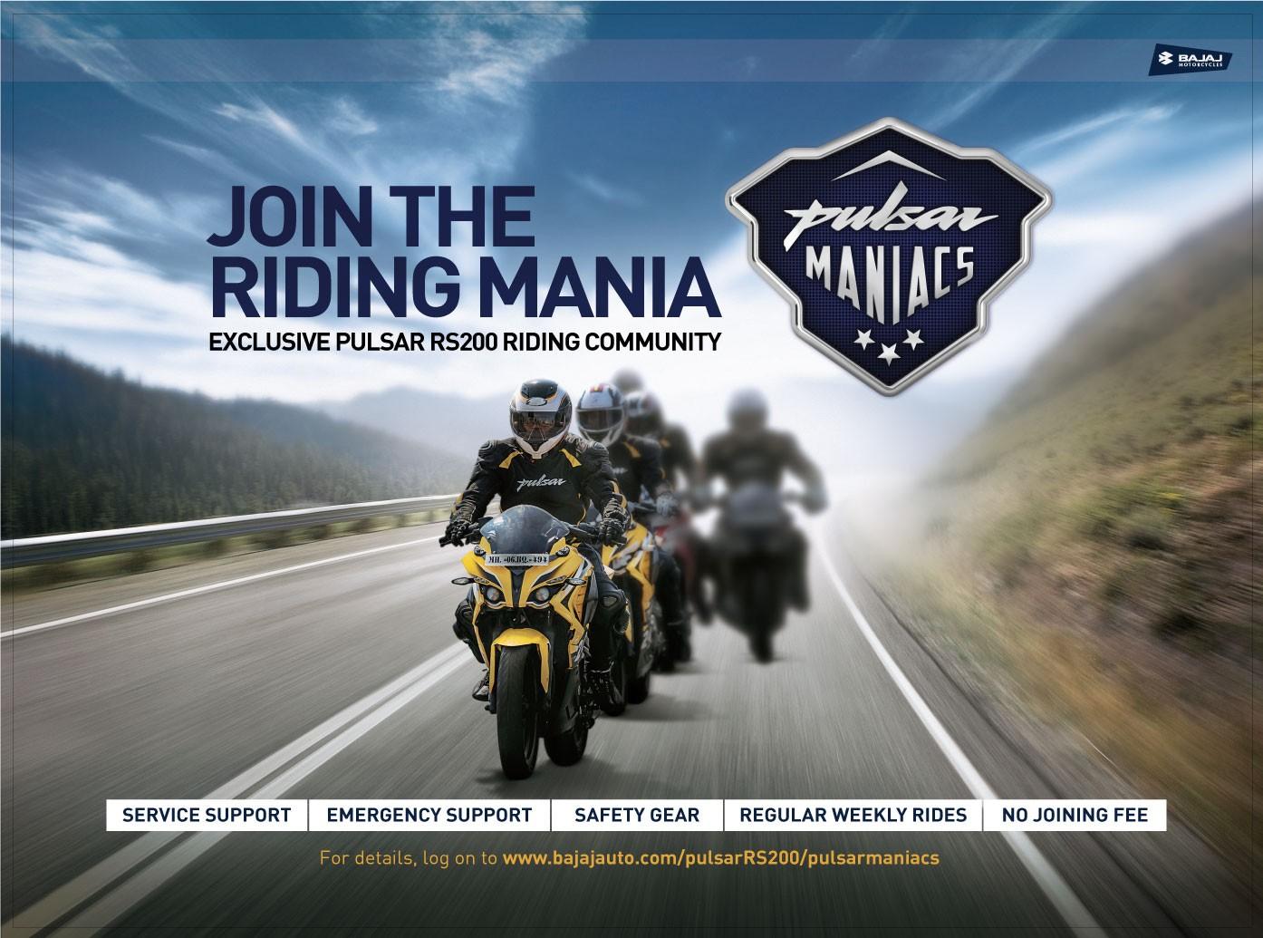 Pulsar Maniacs - Riding Group