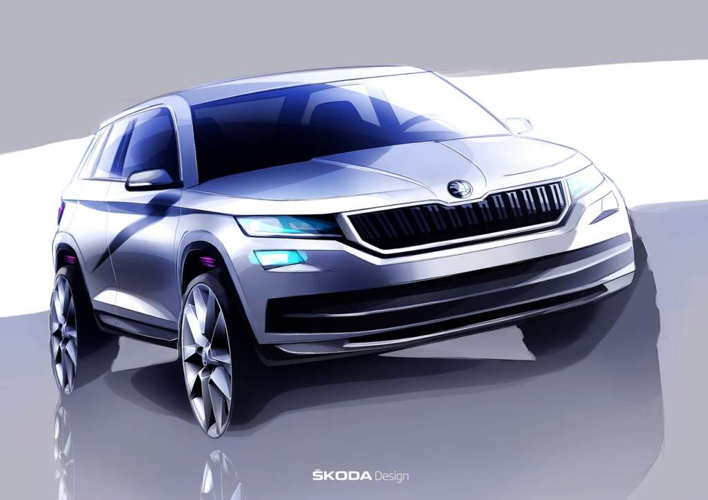 Skoda Kodaiq Design Sketch (1)