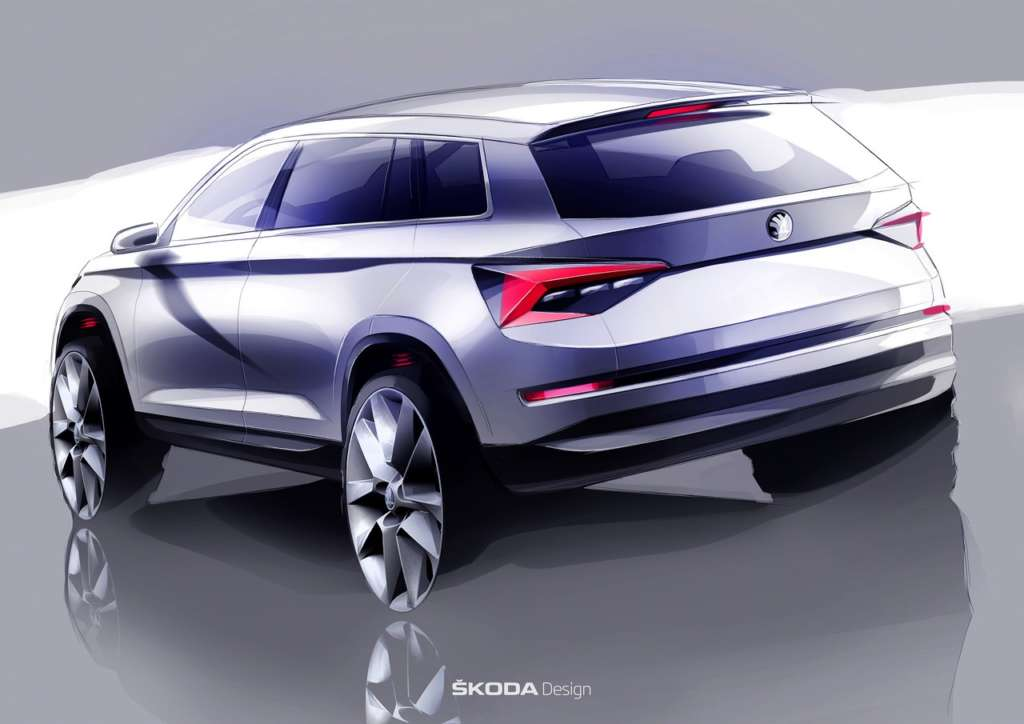 Skoda Kodaiq Design Sketch (2)