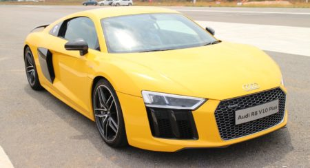 Yellow Audi R8 v10 Plus 12