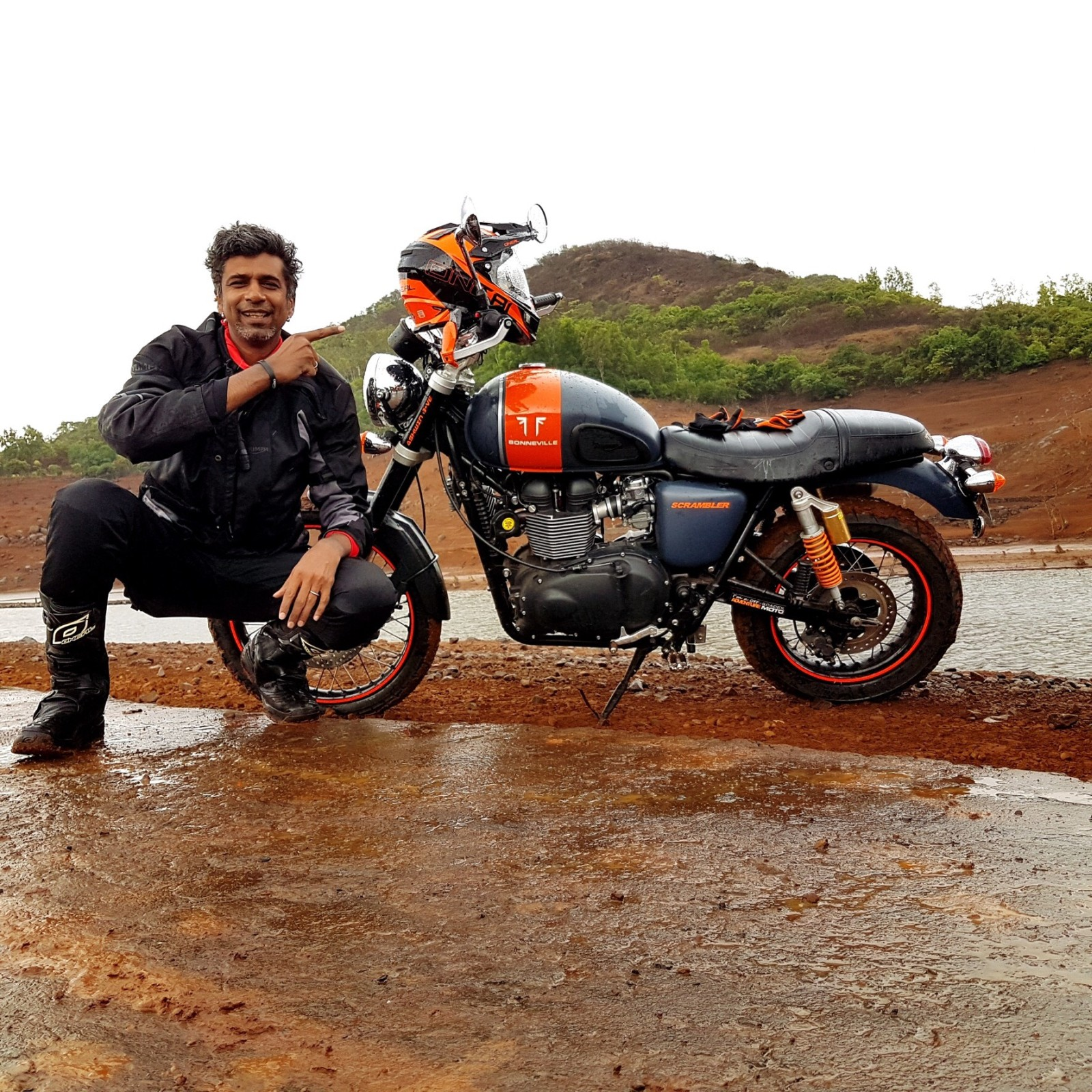 Customised Triumph Scrambler - Riding Shots - Ashwin (2)