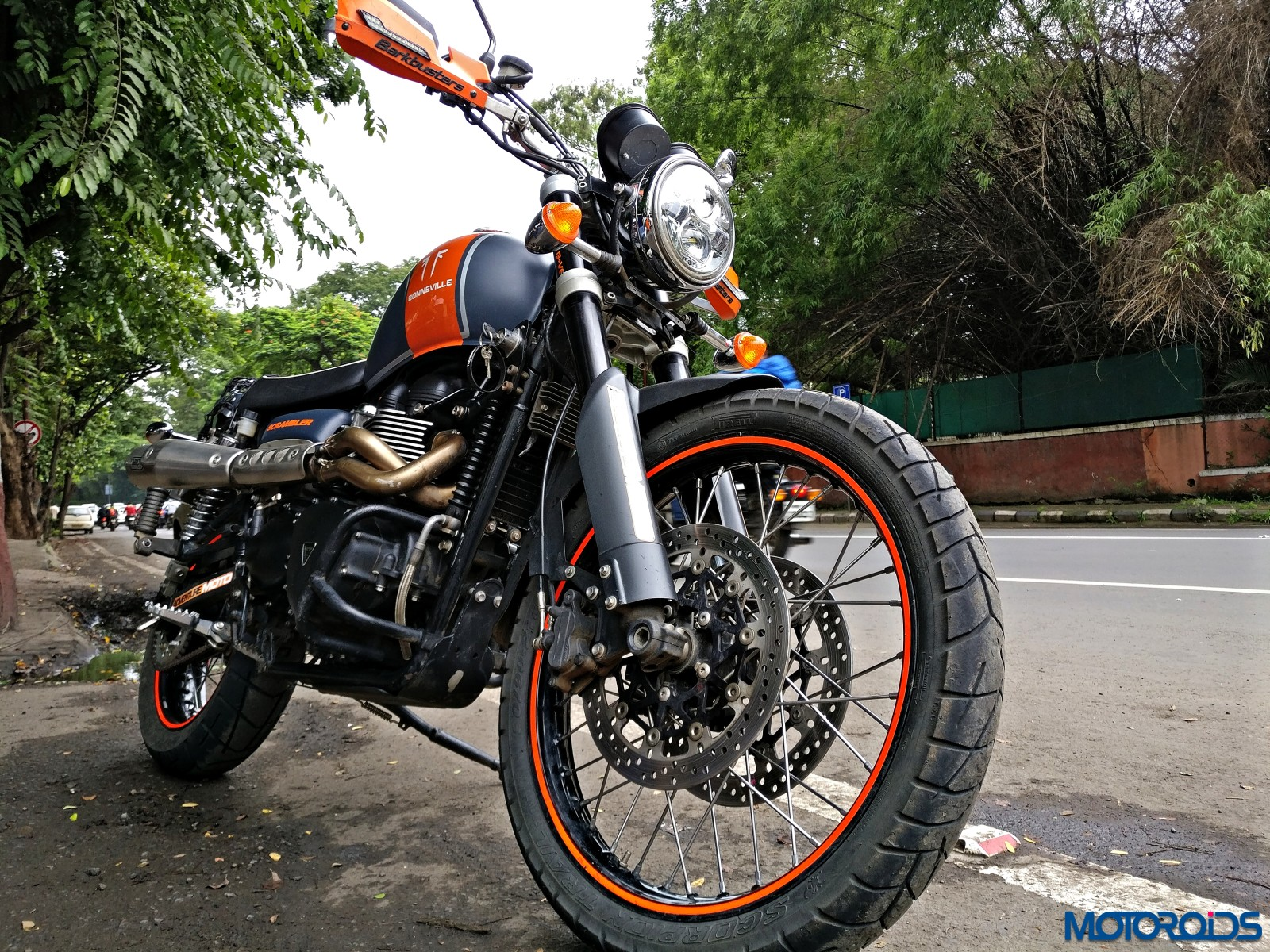 Customised Triumph Scrambler - Triumph Pune (19)