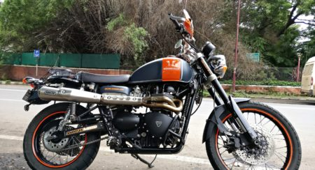 Customised Triumph Scrambler - Triumph Pune (3)