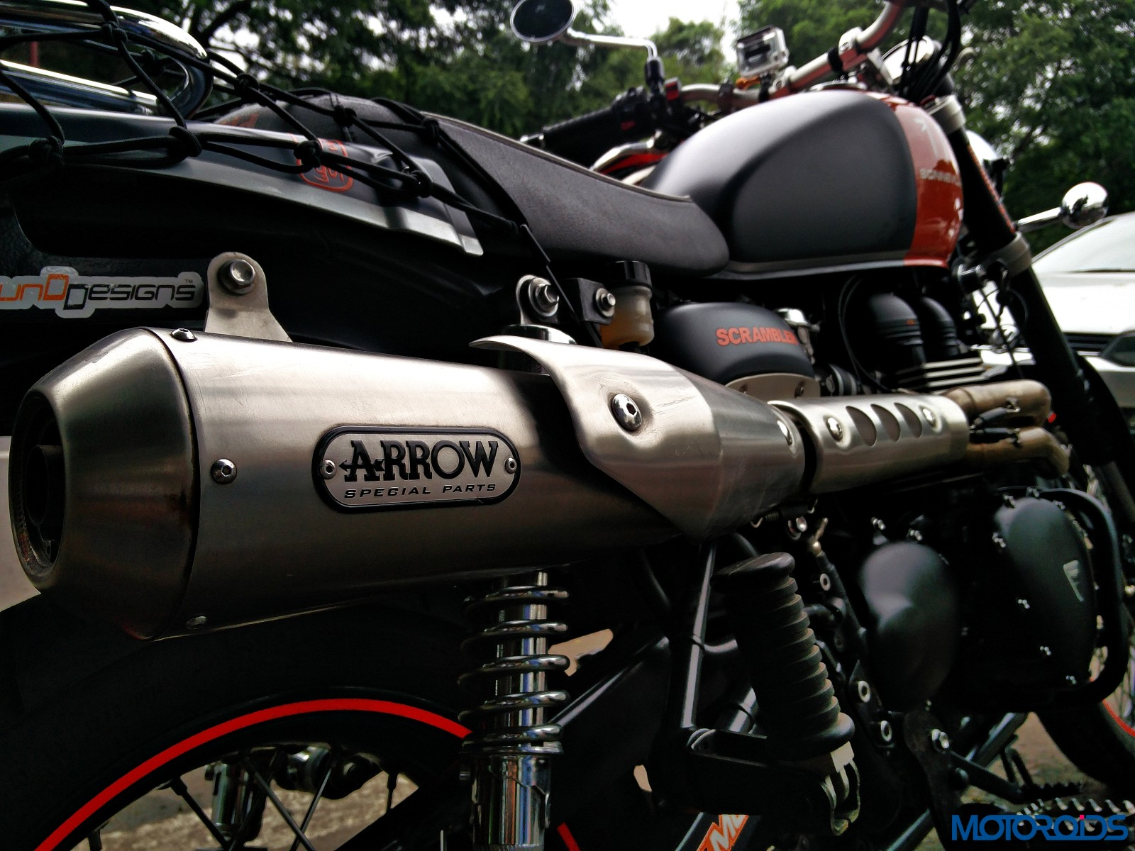 Customised Triumph Scrambler - Triumph Pune (4)