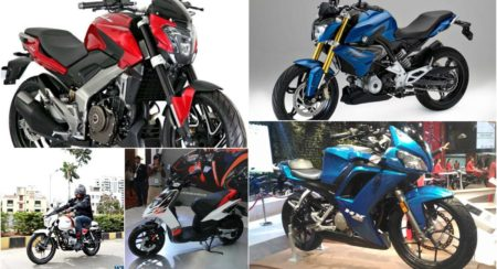 Five upcoming bikes collage
