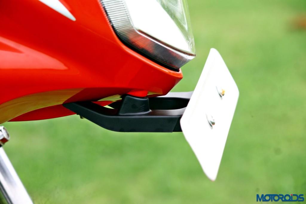 Hero MotoCorp Splendor 110 iSmart front number plate