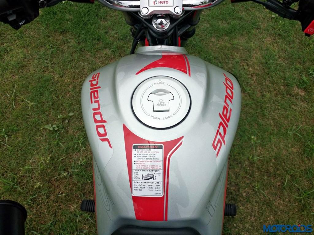 Hero MotoCorp Splendor 110 iSmart fuel tank