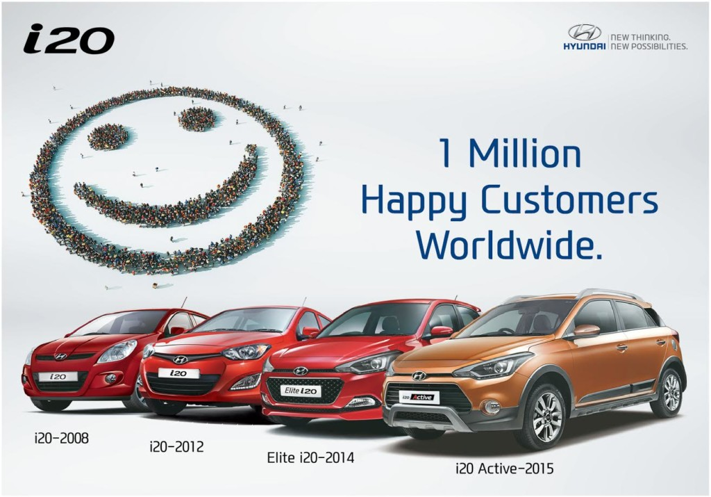 Hyundai i20 1 million global sales