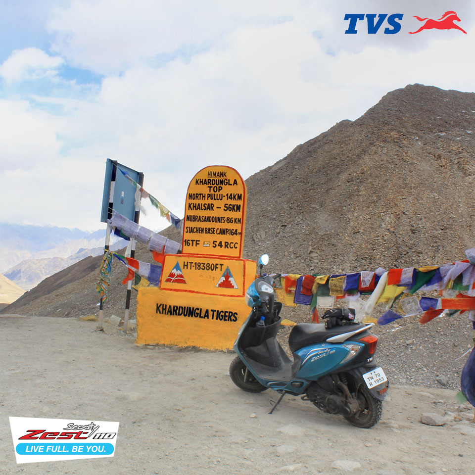 Ride to Khardung La On my TVS Scooty Zest – Anam Hashim (3)