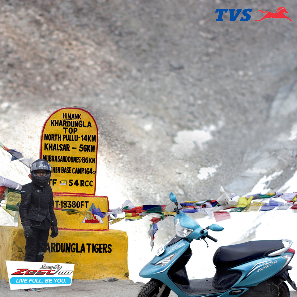 Ride to Khardung La On my TVS Scooty Zest – Anam Hashim (4)