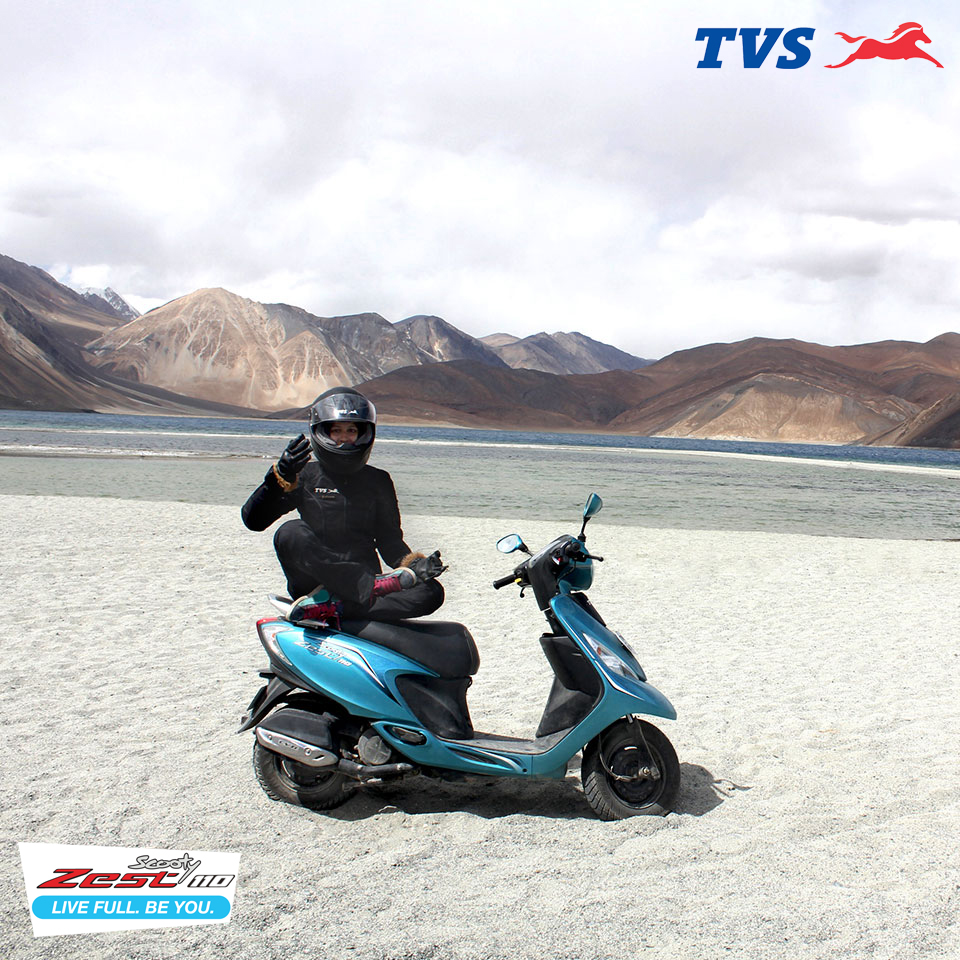 Ride to Khardung La On my TVS Scooty Zest – Anam Hashim (5)