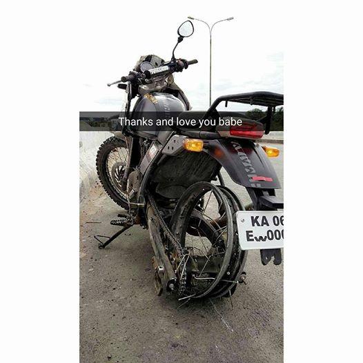 Royal Enfield Himalayan rear tire