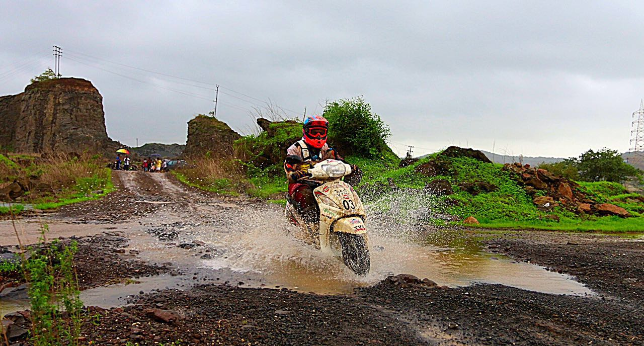 TVS Racing Rider Syed Asif Ali aces Gulf Monsoon Scooter Rally
