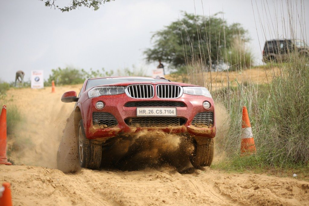 03.The BMW X3 in action at Super Speciality Stage of Rally of Jaypore 2016