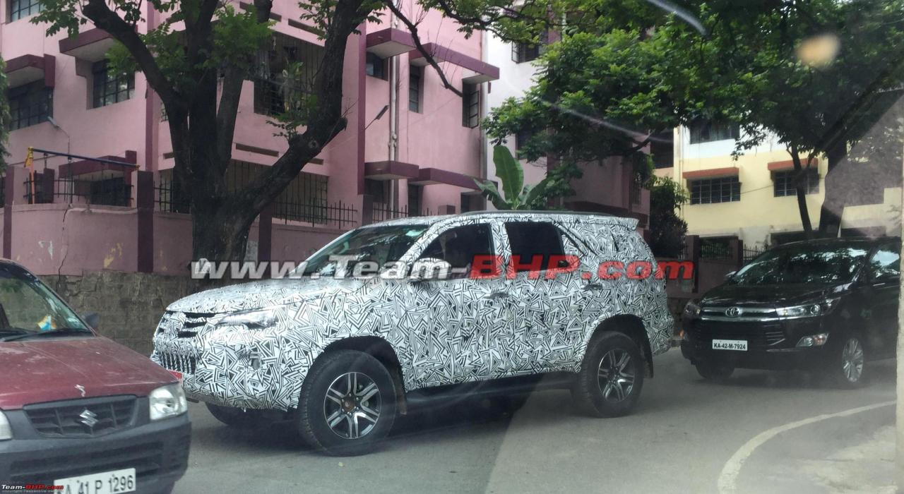 2016 Toyota Fortuner spied testing