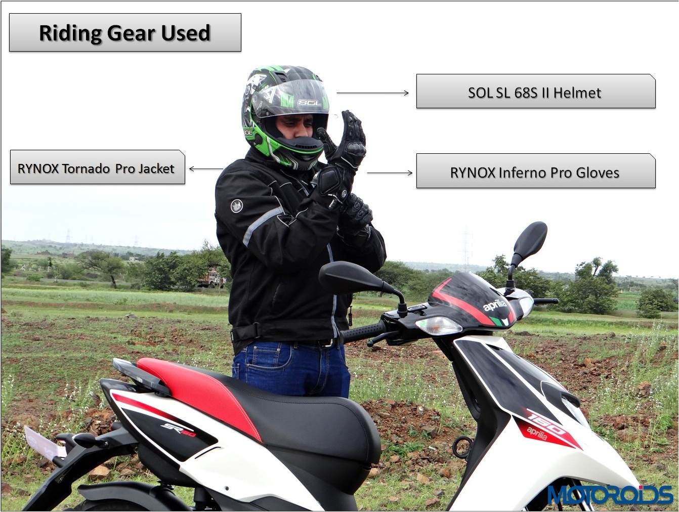 Aprilia SR 150 Review - Riding Gear Shots - Final (1)