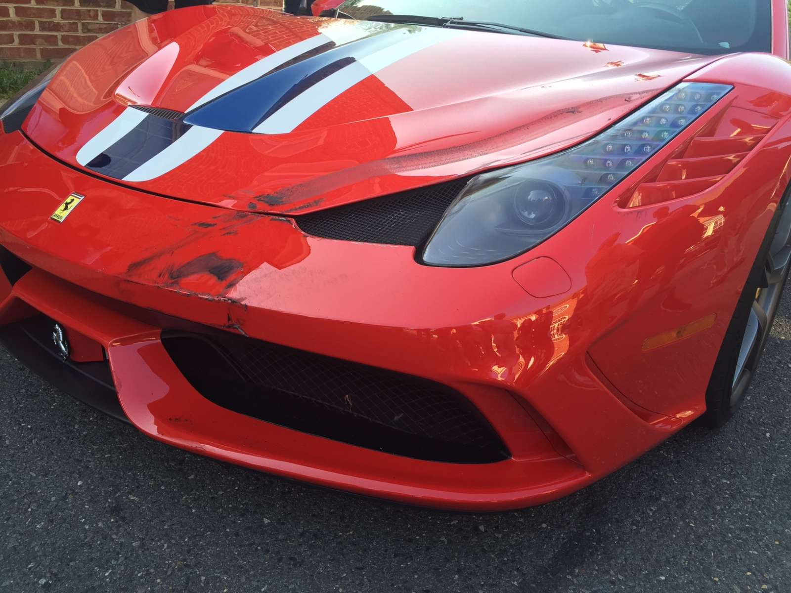 Driver Rams into Ferrari - Virginia - 2