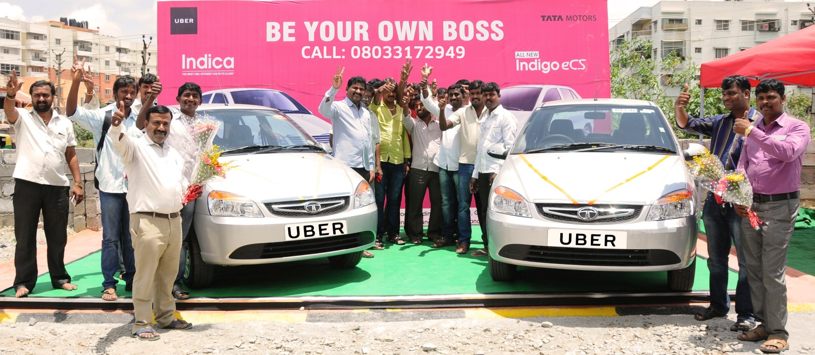 First 50 Uber drivers in Bangalore get cars under Tata Offer