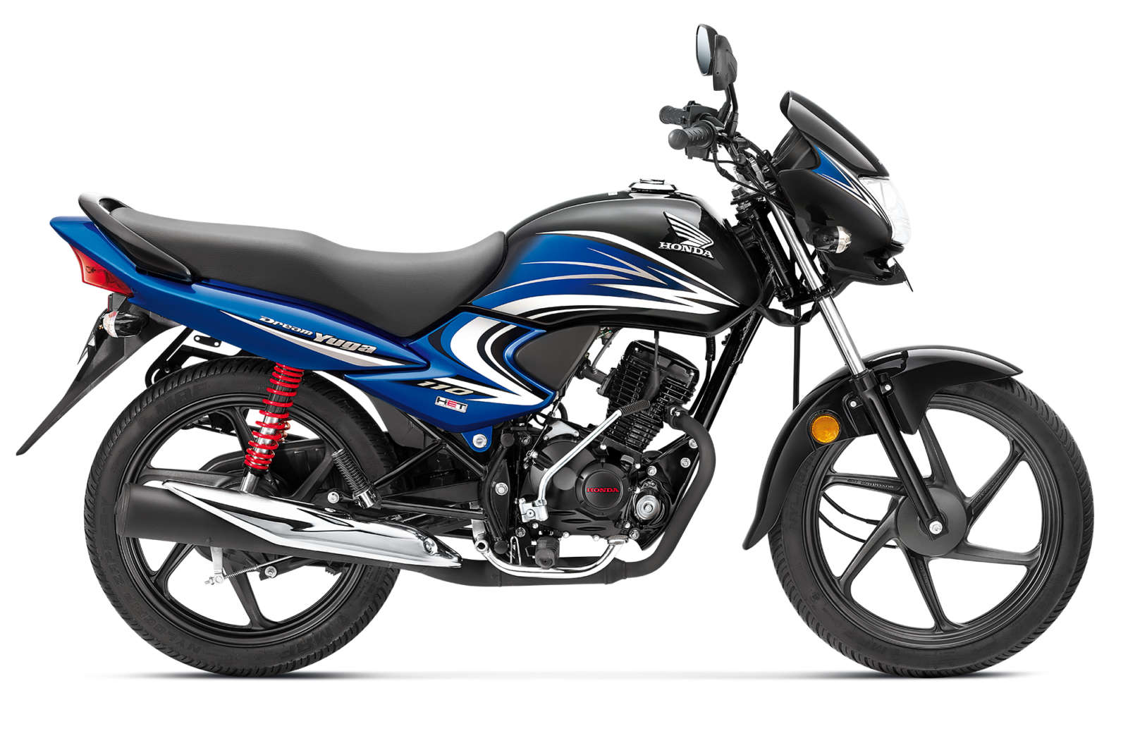 Honda Dream Yuga - Black with Athletic Blue Metallic