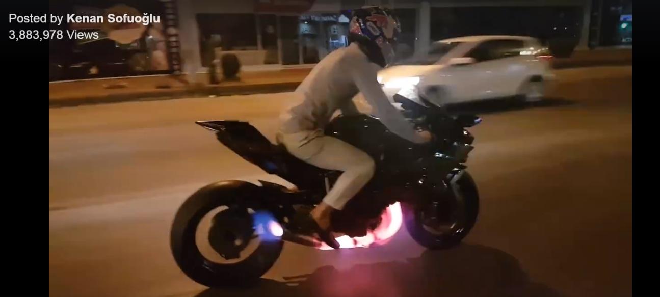 Kawasaki H2R - Splits Flame - 2