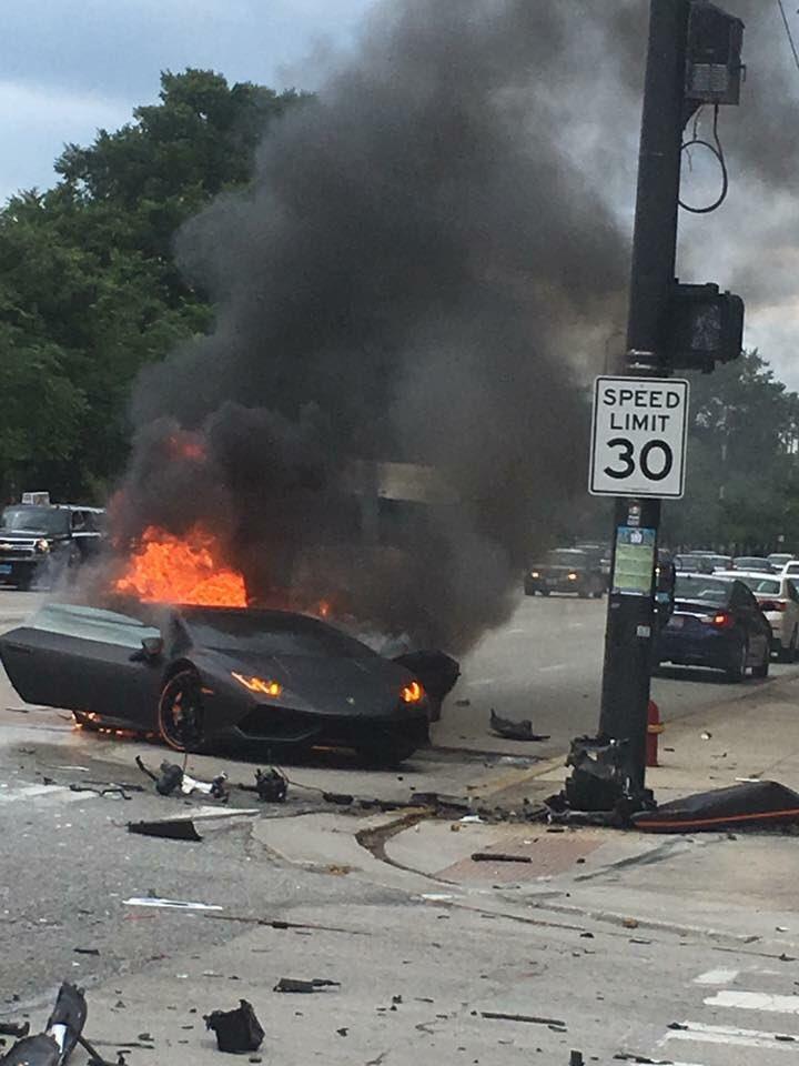 Lamborghini Huracan Crash Chicago (1)