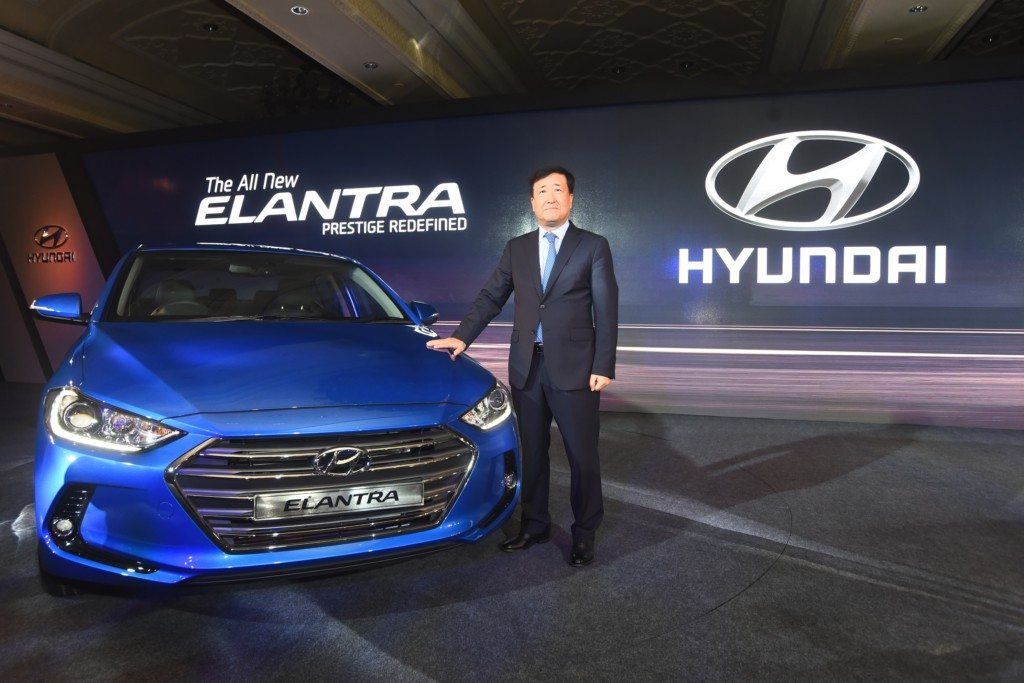 MR. Y.K. Koo, MD & CEO, Hyundai Motor India Ltd. at the launch of The All New Elantra at New Delhi
