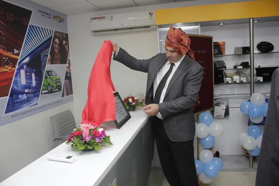 Mr. Kaher Kazem, President and Managing Director, GM India at the innauguration of Nikhil Chevrolet