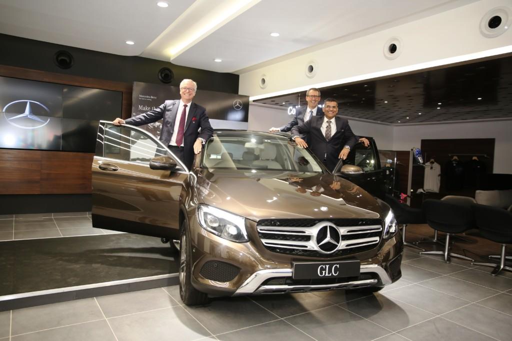 Mr. Roland Folger, MD & CEO, Mercedes-Benz India_ Mr. KM Thakkar, Executive Director, Emerald Motors and Mr. Michael Jopp, Head - Sales & Marketing, Mercedes-Benz India