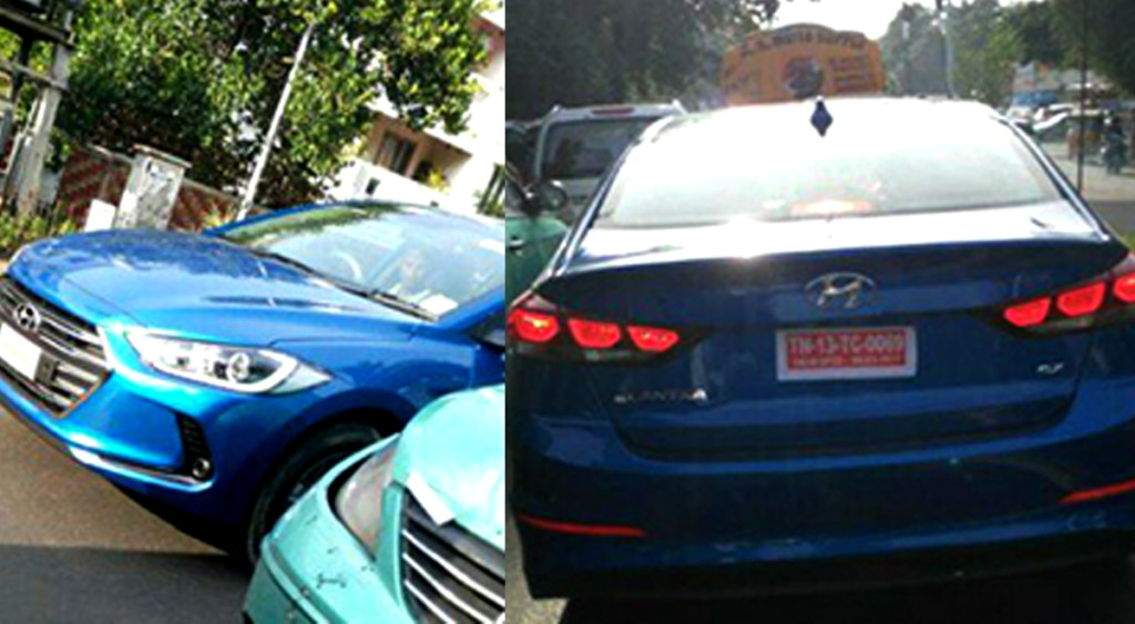 New Hyundai Elantra spied in India