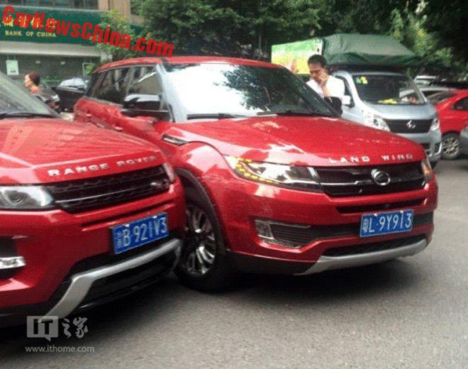 RR Evoque and Jiangling Landwind X7 accident (1)