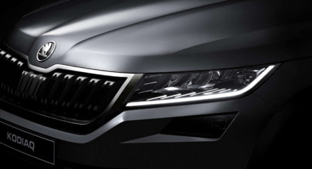 Official: India bound Skoda Kodiaq teased through close up images