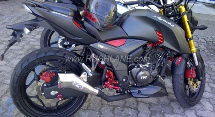 How About This Matte Black  Modified Tvs Apache Rtr 200 4v