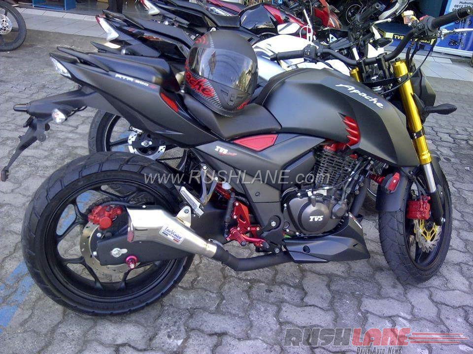How About This Matte Black, Modified TVS Apache RTR 200 4V